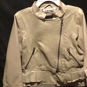 Other - Girls tan leather jacket